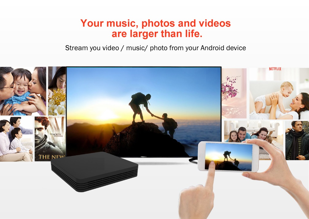New Amlogic S912 Qcta core Android 7.1 STB 2G/16G 4K Ultra HD Dual-band wifi Android Smart TV Box