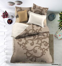 wholesale 100% cotton comforter simply style 4pcs brown bedding set fleece duvet cover set
