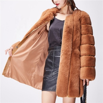 ICE FOX Factory Directly Shipping Imitate Fox Fur Soft Warm Lady Fake Fur Coat For Women