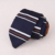 Mens Fashion 100% Polyester Triangle End Stripe Knitted Ties