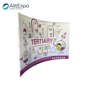 foldable easy assemble tension fabric display backdrop