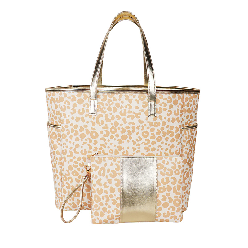 Wholesale Hot Sale Women Leopard Print Leather Handbag <strong>Totes</strong>