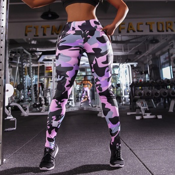 Wholesale Yoga Fitness Leggings Gym Seamless Camouflage Pants Women