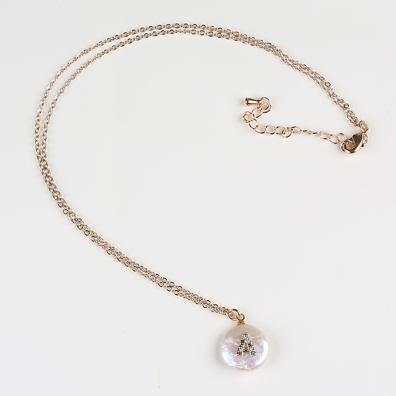 Coin Freshwater Pearl Pendant Necklace Women