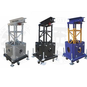 Truss Top pulley medium lifting tower ,truss tower designs