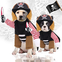 Wholesale Factory Manufacturer Pet Dog Halloween Costumes Clothes Funny big medium pirate