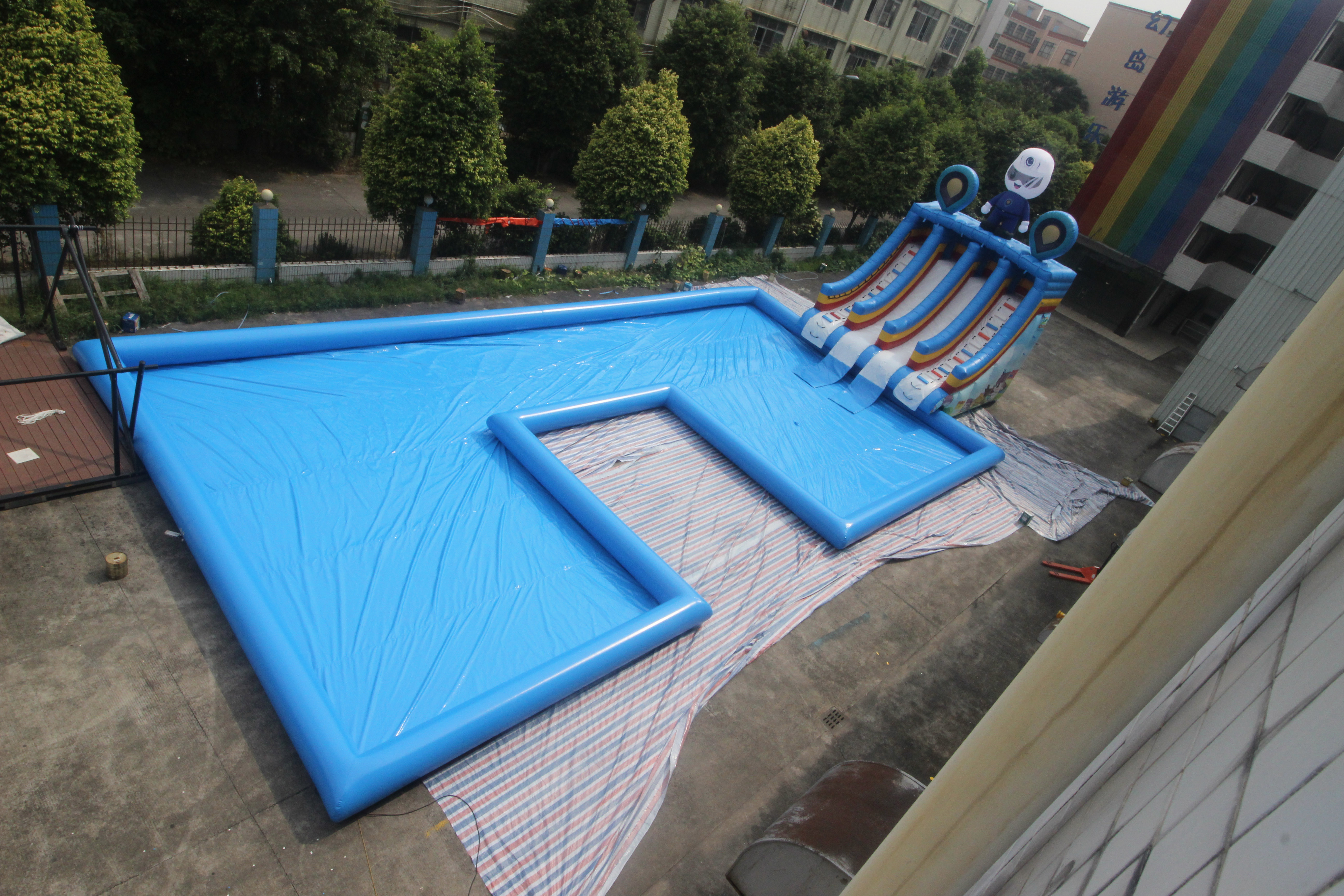 Commercial Clearance Bounce House Water Slide Inflatable Swimming Pool Slide