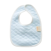 MYMC High Quality 100% Organic Cotton 2 Layers Drooling and Teething Bib Soft Absorbent Hypoallergenic Solid Color Baby Bibs