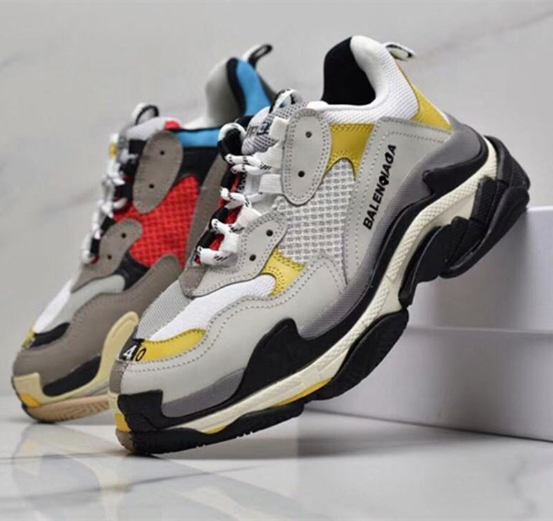 hot sale Fashionable retro Mixed Colors MESH men shoes sneaker balanciaga dad shoes