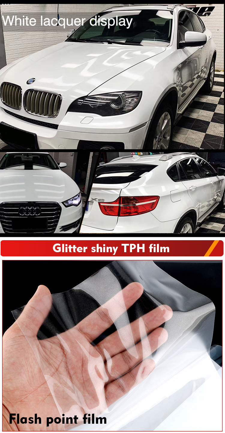 Anti-Scratch Transparent PPF Glitter Shiny film Car Paint Protection TPH Flash point Film