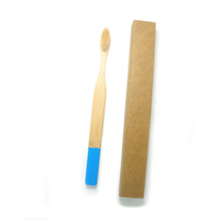 Eco-friendly round toothbrush bamboo children with soft bristle