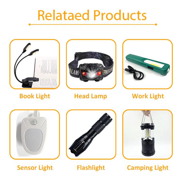 New 2 in 1 3w Portable Hanging Small Pocket Night Vision Camping Light LED Torch Flashlight Camping light