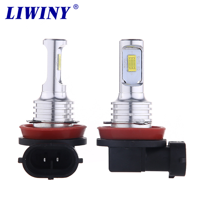 liwiny Gold Light Ice Blue White Light H4 80W 3570 2SMD Highlight Car LED Decoding <strong>Fog</strong> <strong>Lamp</strong> H4 Motorcycle Lights