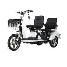 350w 48V motorcycle electric city tricycle for 2 adults elderly, passenger seat or disabled
