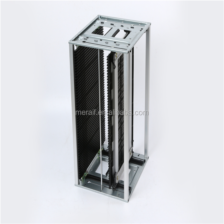 Screw Adjustable SMT PCB ESD Magazine Rack , Precision ESD Storage Racks Fully conductive, <strong>120</strong> <strong>C</strong> into the oven pcb storage rack
