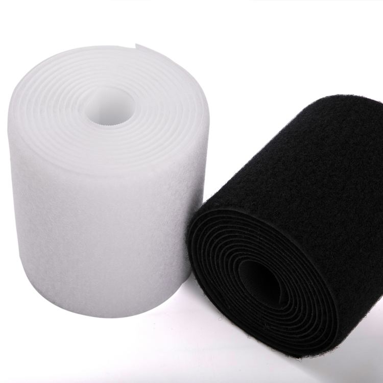 On Various Colour and Width nylon Polyester hook and loop fastener tape for garment shoes