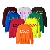 Fashion Wholesale Custom Men Pullover French Terry Crewneck Sweatshirt