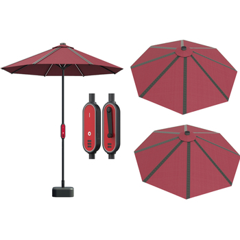 New Energy products Intelligent lighting system Solar Beach umbrella with 4 USB ports