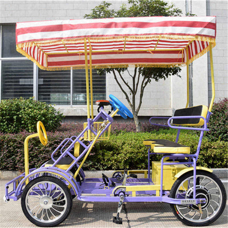 High-End Family Style Quadricycle Surrey 4wheel bicycle <strong>specialized</strong> bike sale