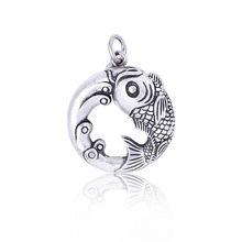 2020 fashion charms do old handmade fish designer custom wholesale jewelry women's sterling silver necklace <strong>pendant</strong>
