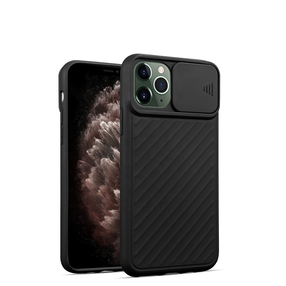 Multicolor soft tpu camera slide door protect mobile phone case For Iphone 11/11pro/11pro <strong>max</strong> back cover