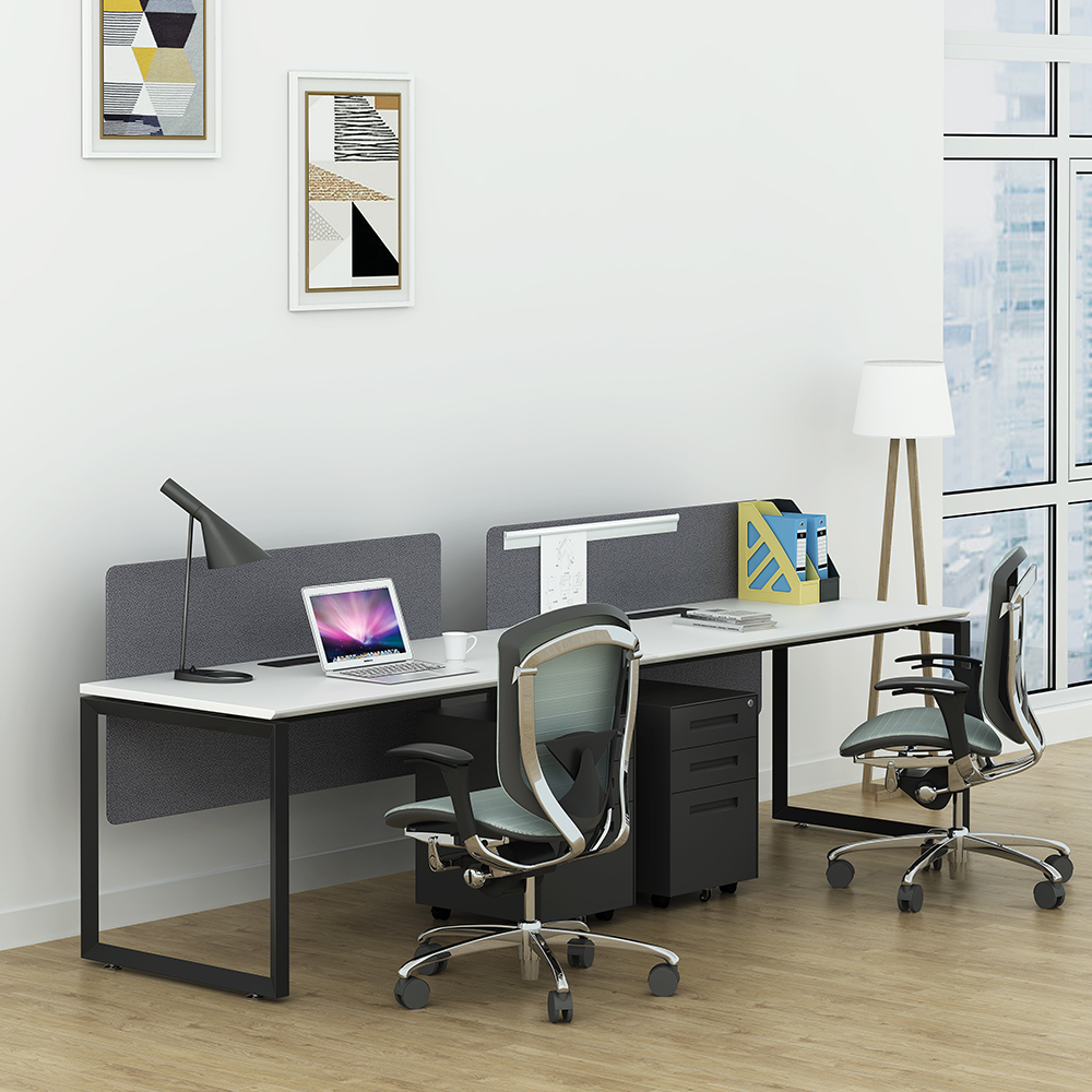 Open space melamine table top metal workstation desk workstation metal table legs