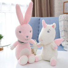 Student Kids crocheted &amp; knitted stuffed <strong>animals</strong> toys Bunny elephant dinosaur Patterns Valentine Day gift lover gifts