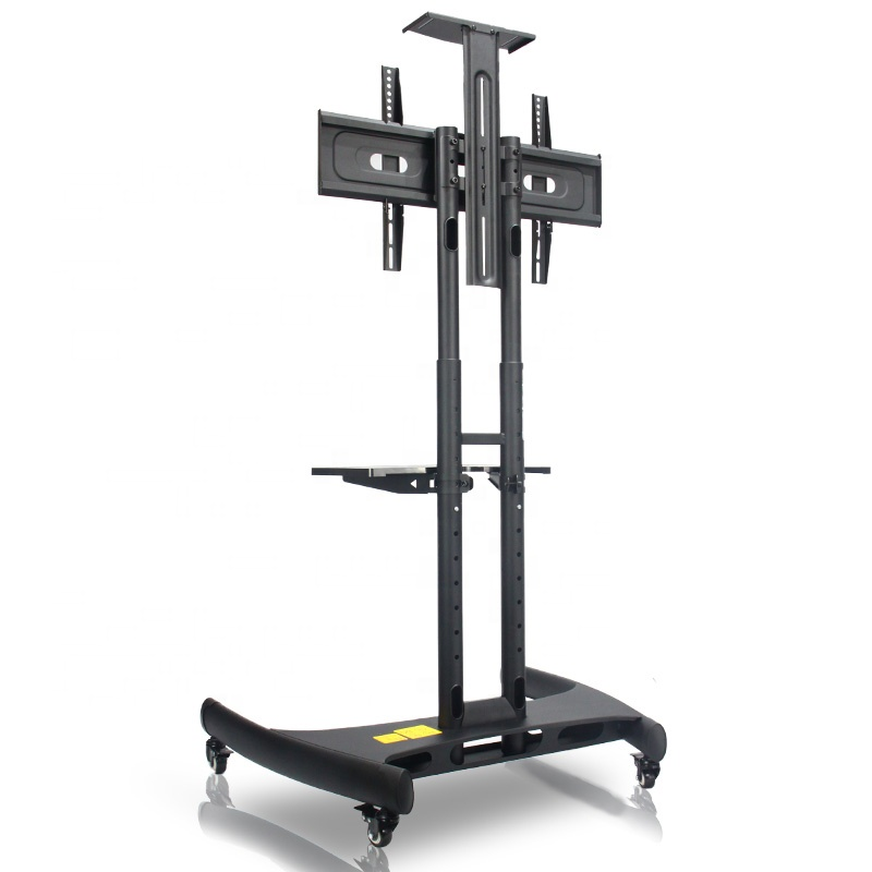 TV Cart Stand Flat <strong>Screen</strong> Panel <strong>w</strong>/ Wheels Mobile Fits 32 to 65 inch up to 100lbs VESA 600*400