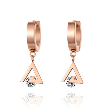 Fashionable Wholesale earrings Rose Gold Rhinestone Clip-on Earrings Crystal jewelry