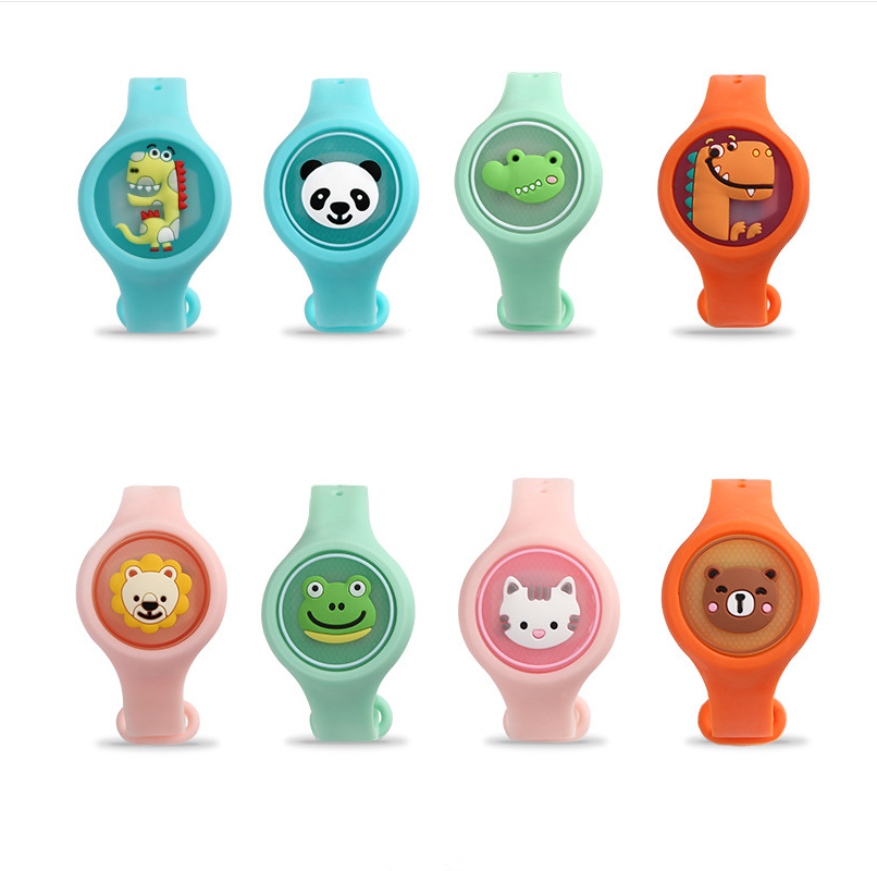 <strong>J22</strong> Wholesale Children Mosquito Repellent Bracelet Noctilucous New Design Animal Cartoon Anti-mosquito Bracelet Wristband
