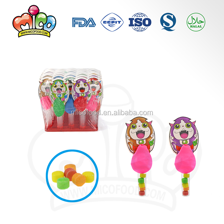 Cartoon fat cat colorful balloon tube toy candy