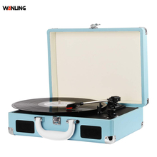Wholesale Portable Retro Record Player Modern Gramophone Vinyl Wood Suitcase Turntable Record Player with <strong>Bluetooth</strong>