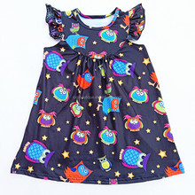 Fashion sweet girls wedding dance party <strong>dress</strong> pig and cow pattern hot sale <strong>girl's</strong> <strong>dresses</strong>