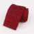 New Fashion Plain Design Burgundy Knitted Neck Ties
