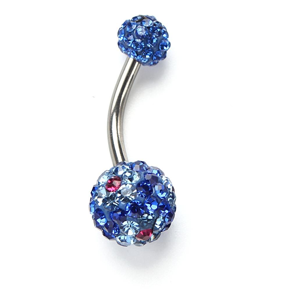 crystal rhinestone diamond surgical <strong>steel</strong> navel ring belly button ring body piercing jewelry
