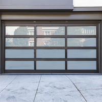 Vertical panel lift opening method aluminum garage door panel