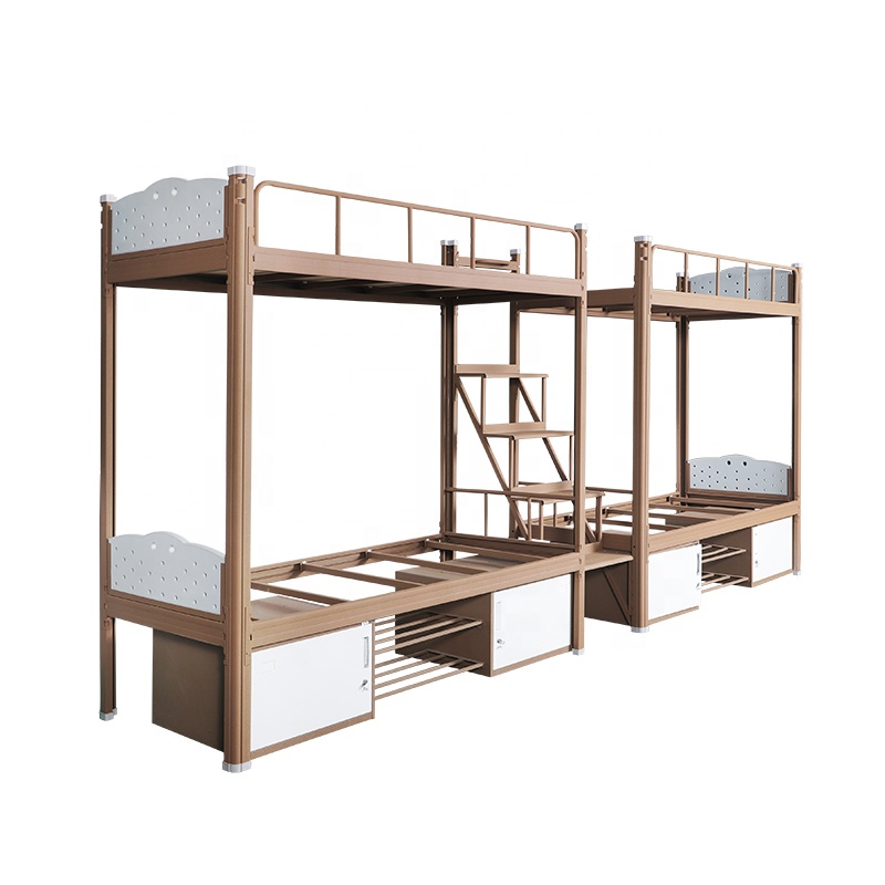 Bedroom furniture dormitory metal frame military <strong>bed</strong> iron dorm bunk <strong>bed</strong> adult double metal cabinet <strong>bed</strong>