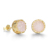 fashion korean 925 silver needle earring jewelry custom natural agate crystal druzy stone crown stud earrings for women