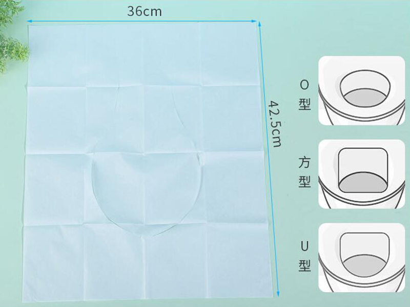Custom Price 1/2 Half Fold Travel Portable Flushable Biodegradable Water Soluble Disposable Toilet Seat Cover Paper Manufacturer