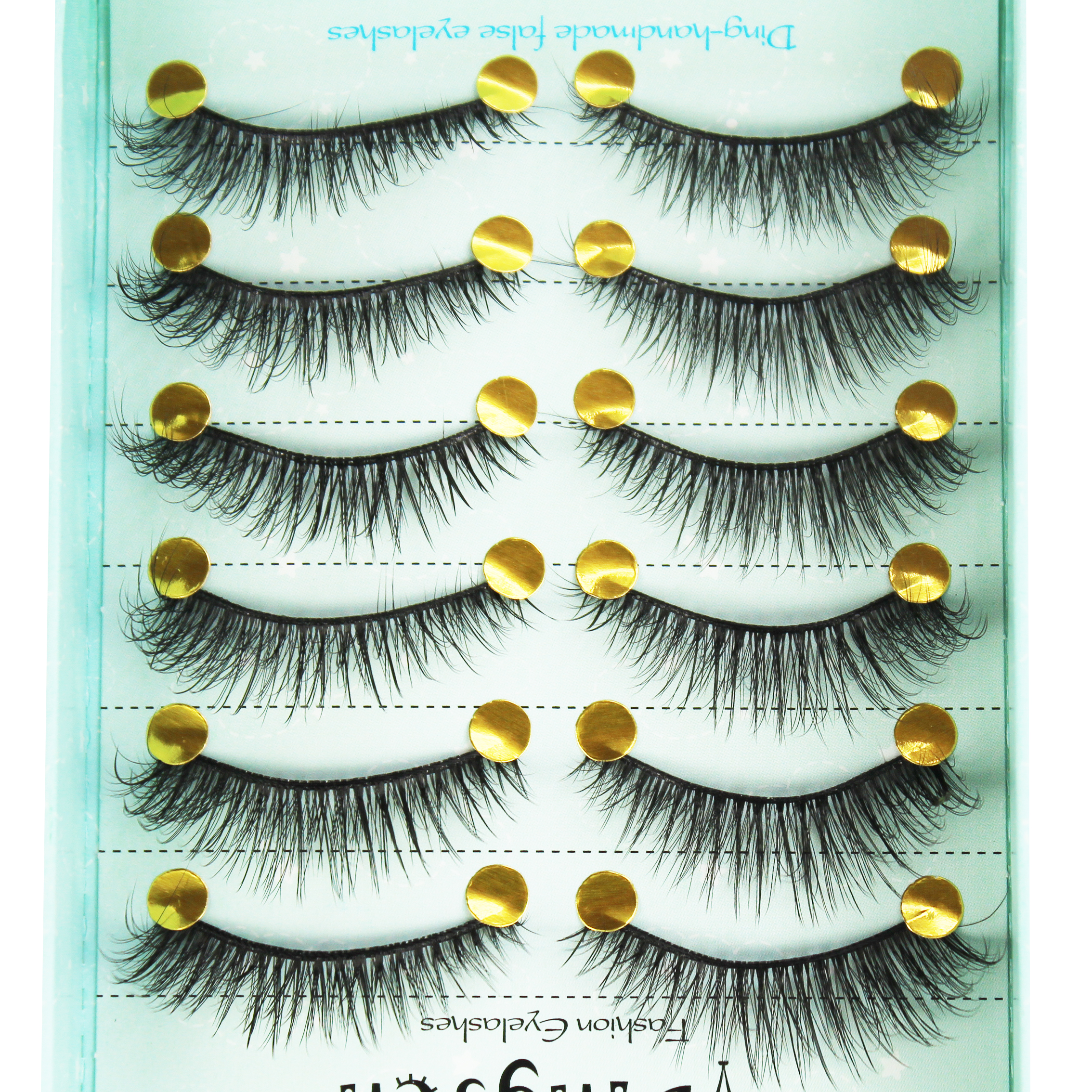 Three-dimensional false eyelashes thick Private label 10 Pairs packaging 3D Synthetic False Eyelashes