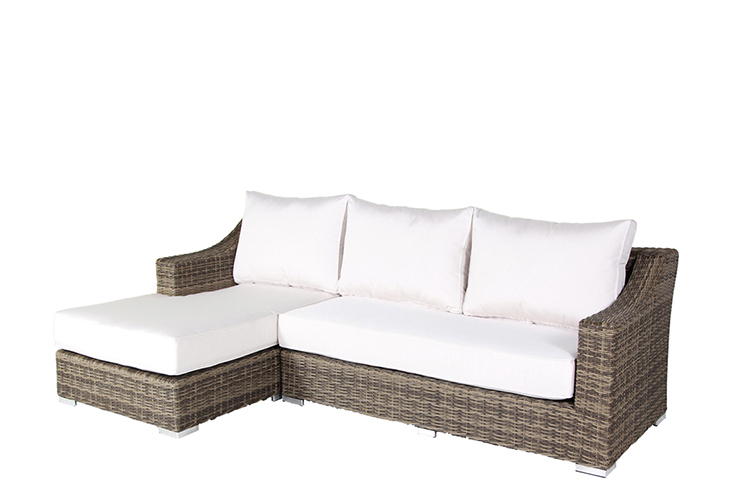 Italian Design Comfortable Modern furniture garden Half round rattan weaving L shaped  Living Room Furniture sofa set