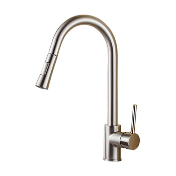 304 Stainless Steel pull out kitchen faucet