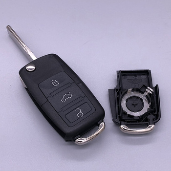 Good Quality 3 Button Flip Remote Flip vw car key cover for Passat Polo Golf