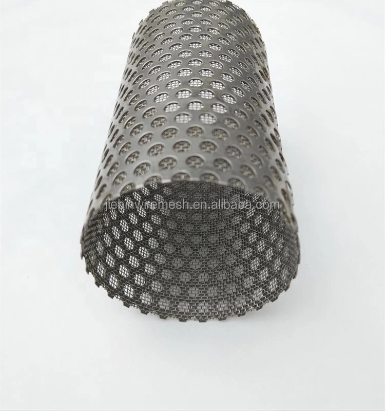 304 /316  Stainless steel perforated filter strainers/tube/disc air conditioner filter