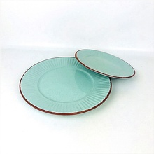 China Dehua factory dinner <strong>plate</strong> 10 inch round shape ceramic terracotta <strong>plates</strong>