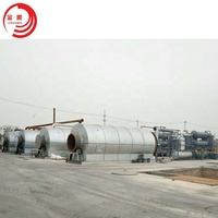 Small scale scrap plastic tyre recycling plant mini waste plastic tire pyrolysis plant
