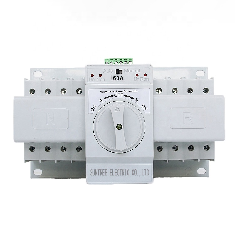 63 AMP GENERATOR CHANGEOVER SWITCH  3 POSITION 2 POLE IP65 SINGLE PHASE