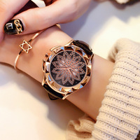 2019 New ladies watch Rhinestone Leather Bracelet Women Fashion Watches drop shipping