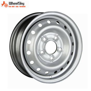 Wheelsky ET1345501-R12-S 13 inch 13X4.5 PCD 5X112 750kg load capacity silver painting steel trailer wheel