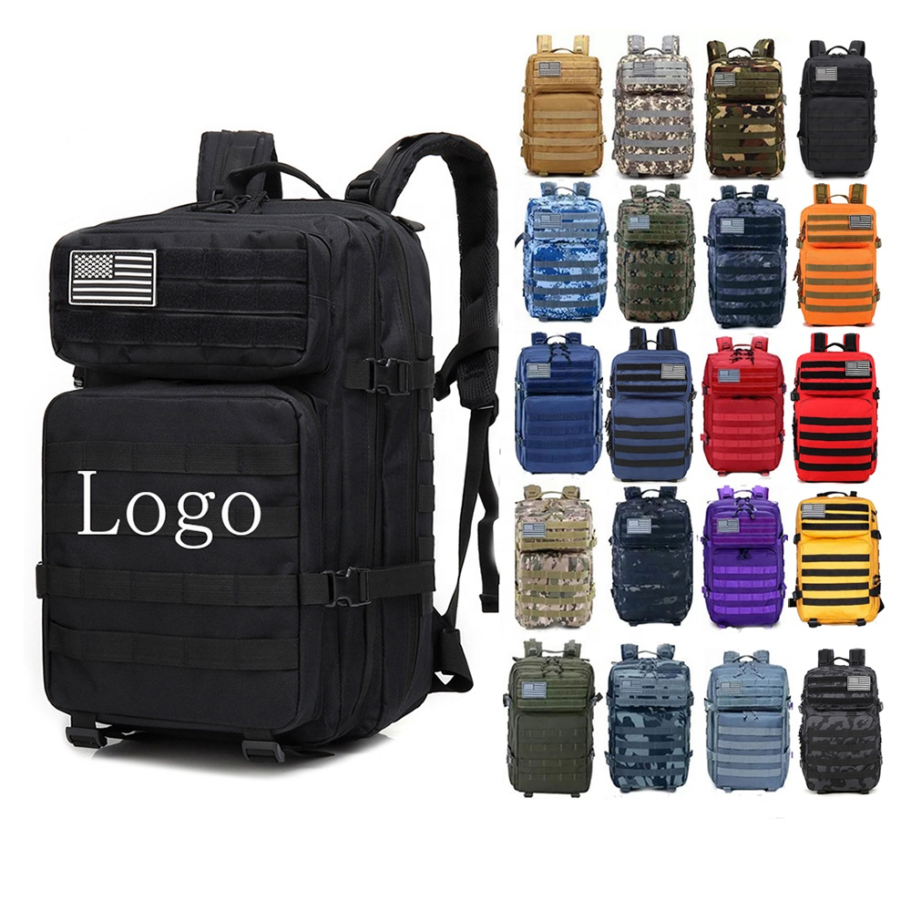 Hiking Camouflage Oxford Molle Army Tactlcal Bag Rucksacks Outdoor Sport GYM Travel 45L Military Tactical <strong>Backpack</strong>